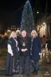 Tenning av Julegranå i Aberdeen